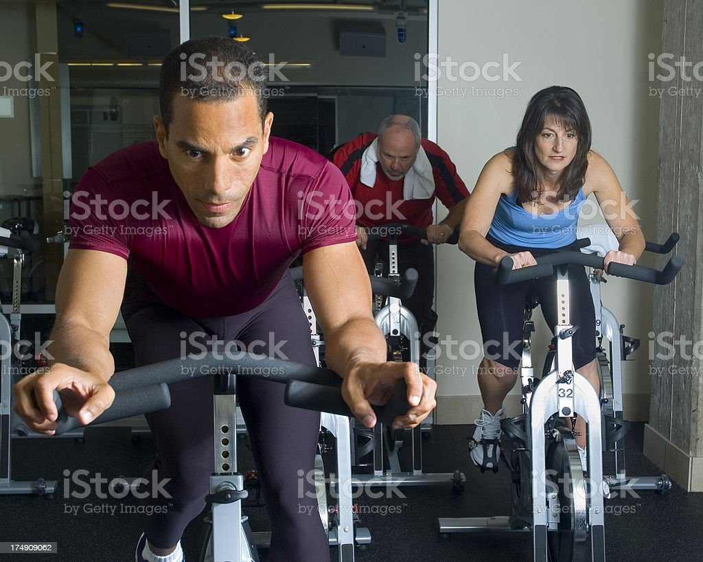Spinning Class Cycling Training royalty-free stock photo