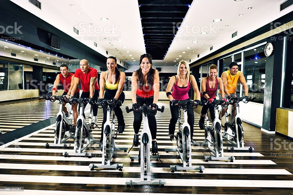 Spinning Class royalty-free stock photo