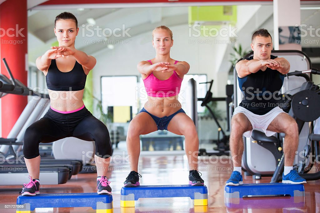 exercising gym stock photo
