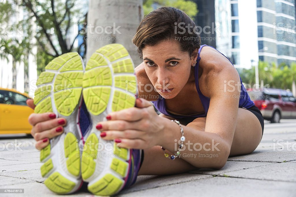 Exercising in the street royalty-free stock photo