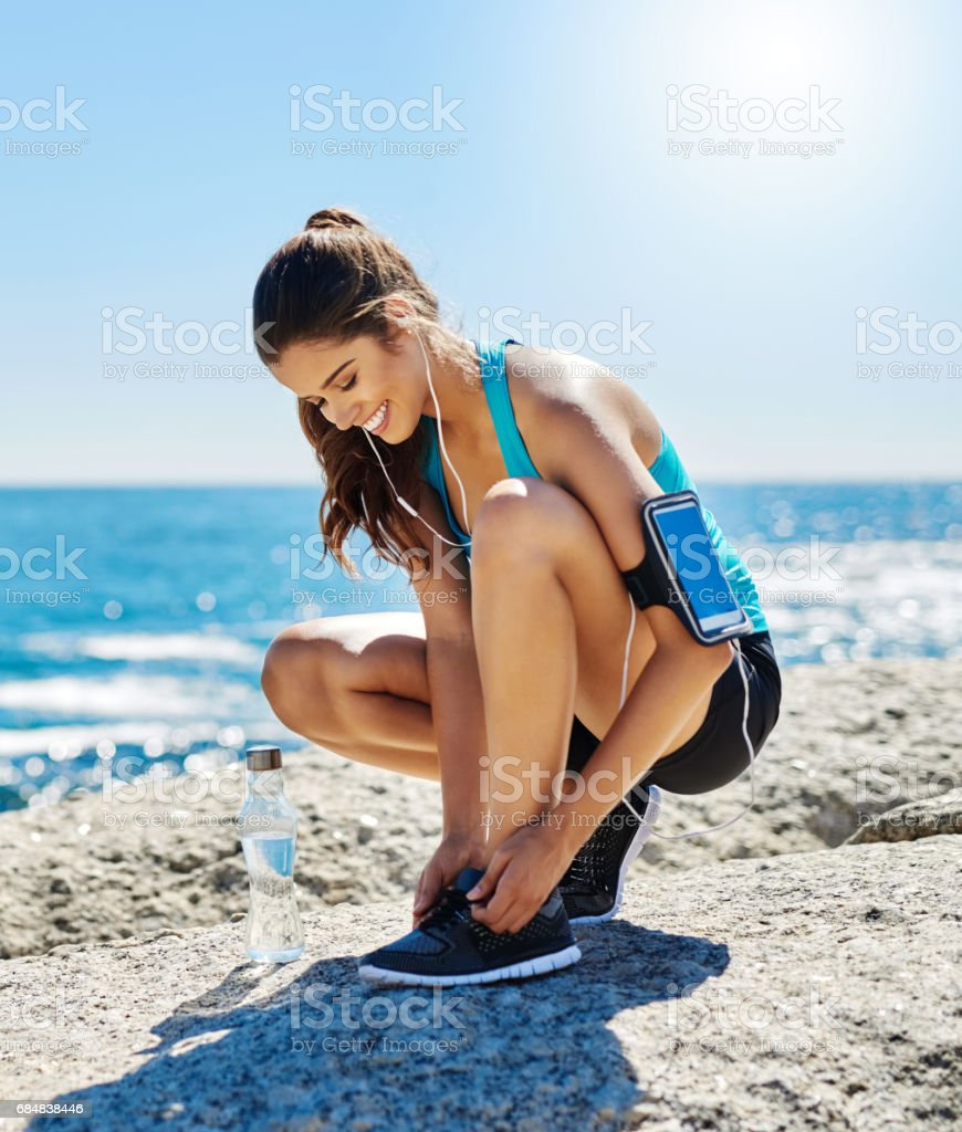 Exercising is my number one stress reliever stock photo