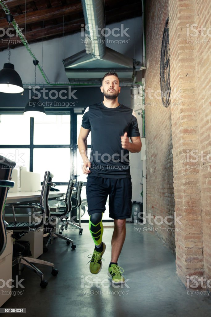 Exercising Office Worker
