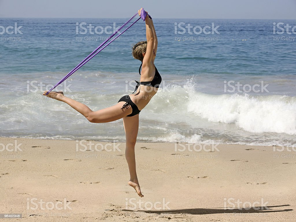 Exercising on the beach - Royalty-free Activity Stock Photo