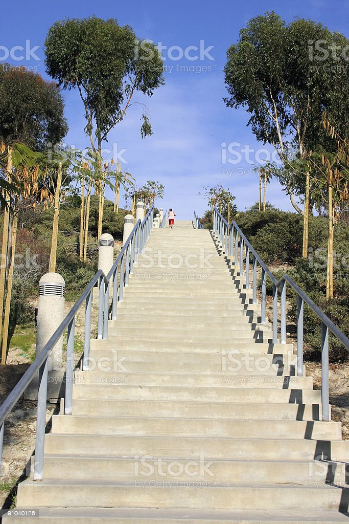 Exercising on the stairs royalty-free stock photo