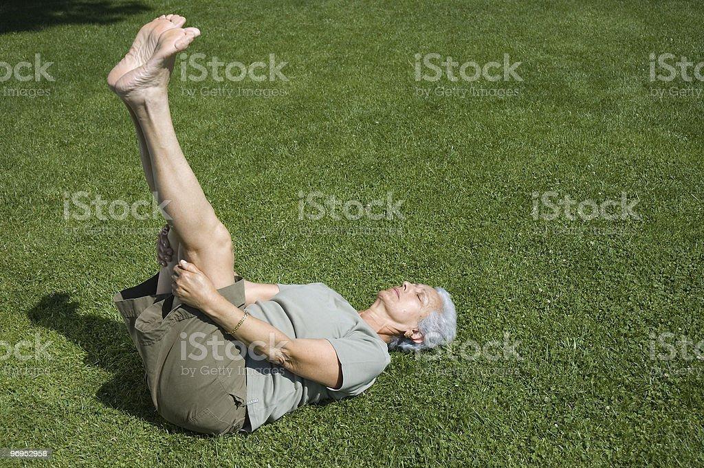 Exercising outdooors royalty-free stock photo