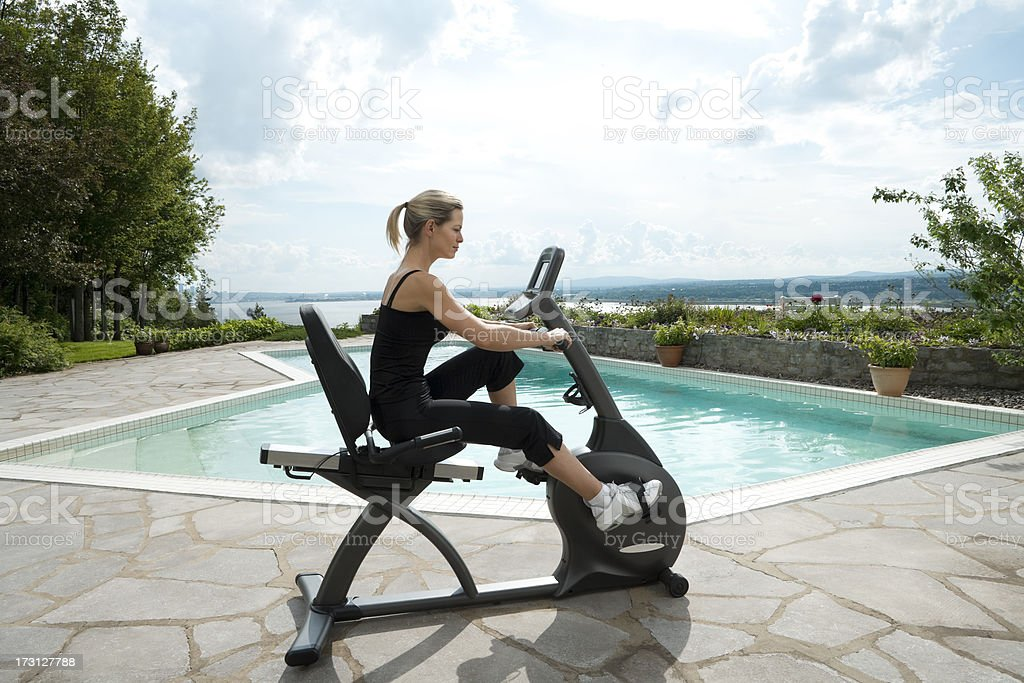 Exercising Outside royalty-free stock photo