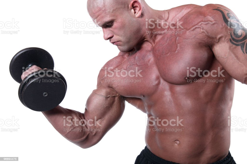 Exercising royalty-free stock photo
