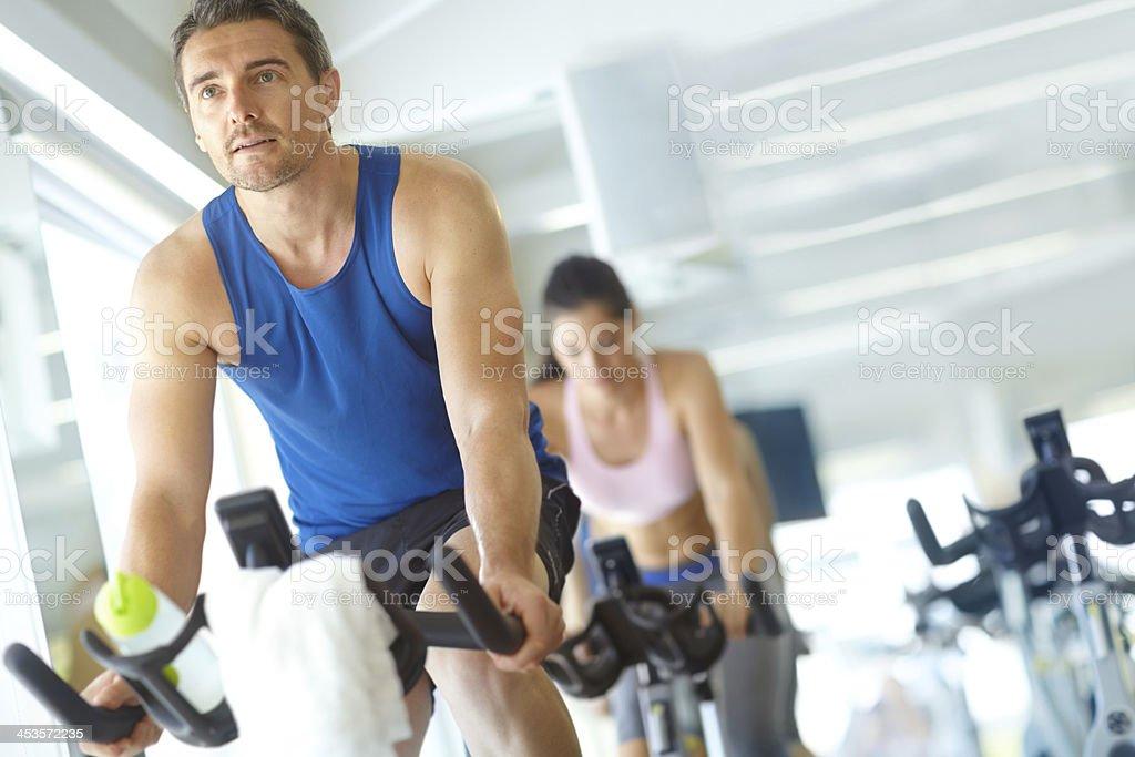 Spinning en su tono muscular órganos - foto de stock