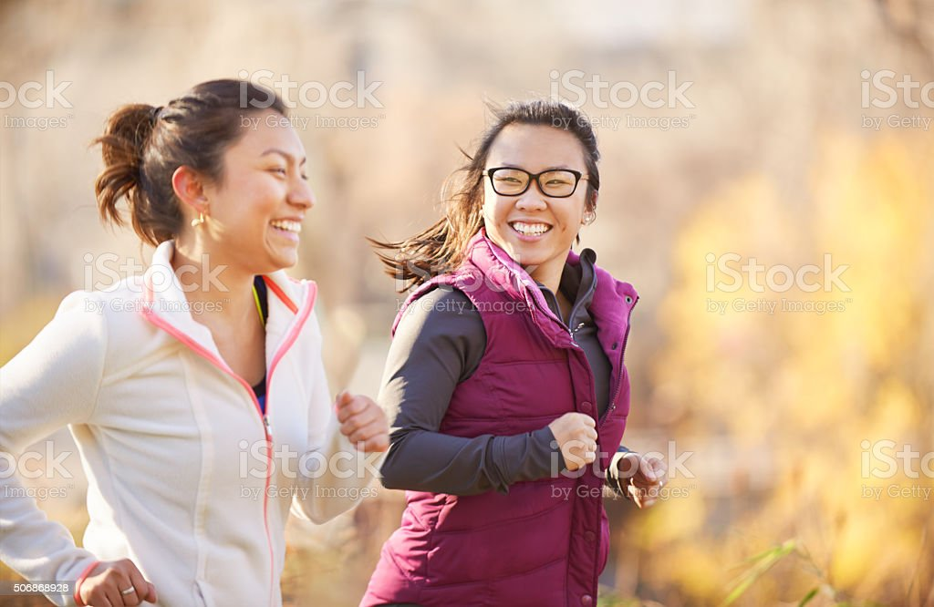 Exercising together helps us to build a stronger relationship stock photo