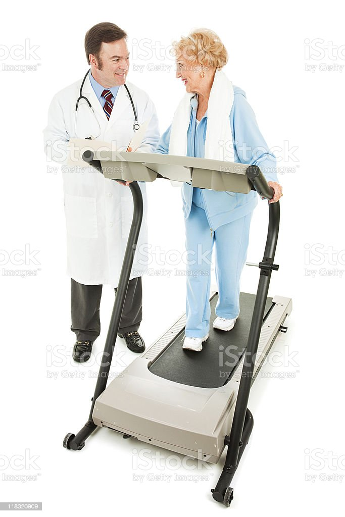 Exercising with Medical Supervision royalty-free stock photo