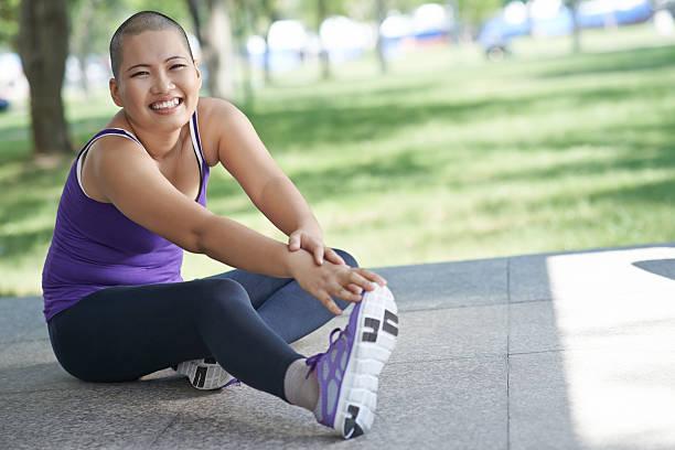 Exercising woman stock photo