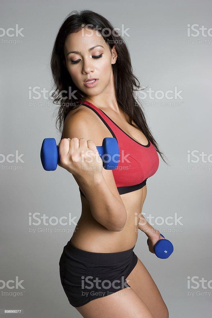 Физические упражнения женщина Стоковые фото Стоковая фотография