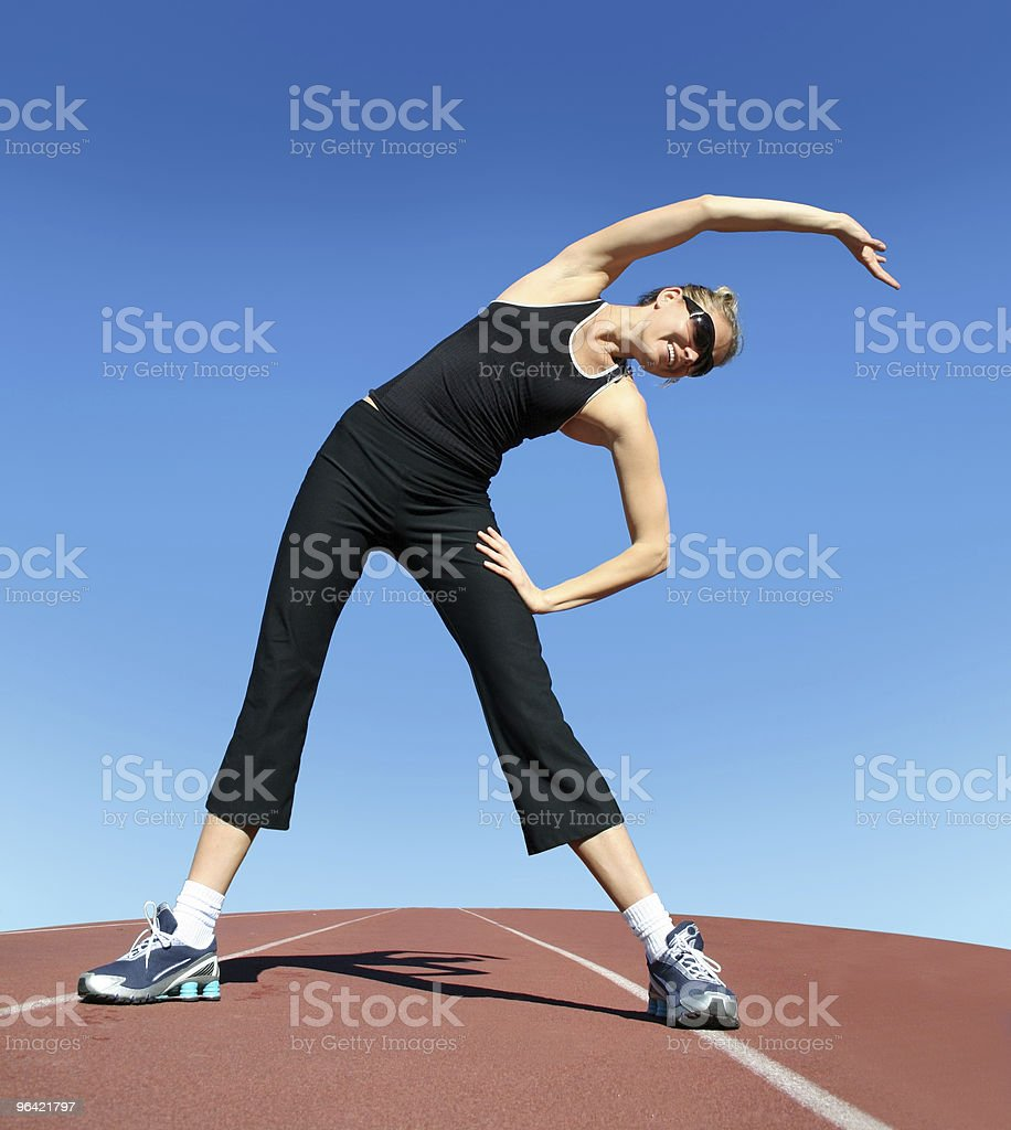 Exercising woman royalty-free stock photo