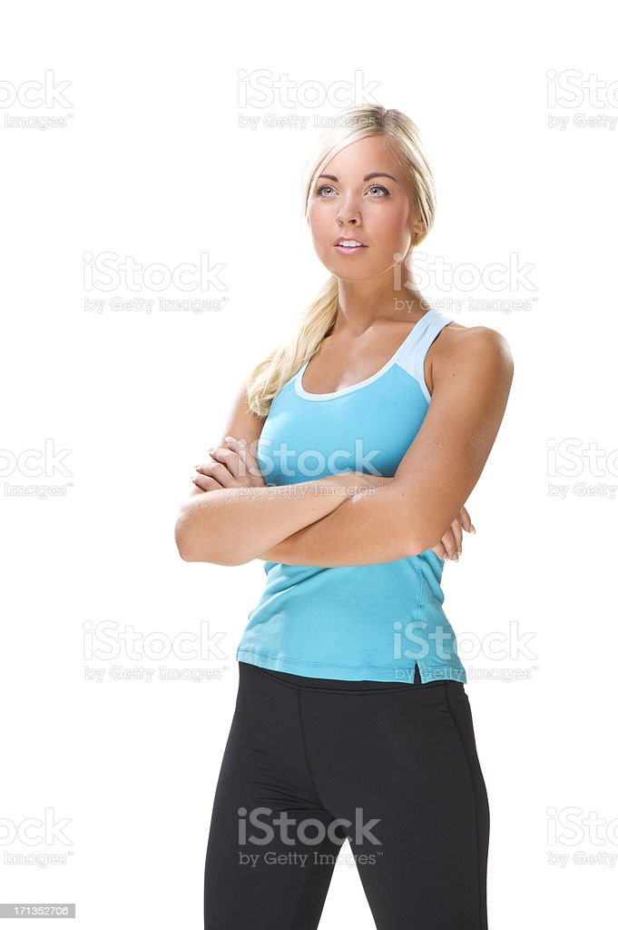 Exercising Young Woman royalty-free stock photo