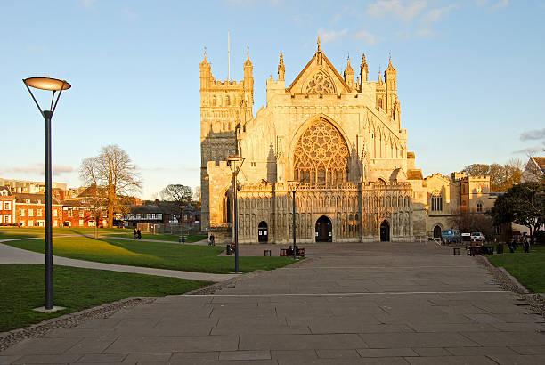 Exeter Catedral Anglicana de St. Peter, Devon, Inglaterra - foto de acervo