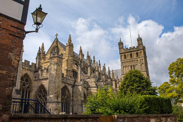 Exeter Cathedral in Devon, UK stock photo