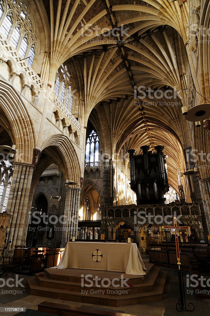 Exeter Cathedral royalty-free stock photo