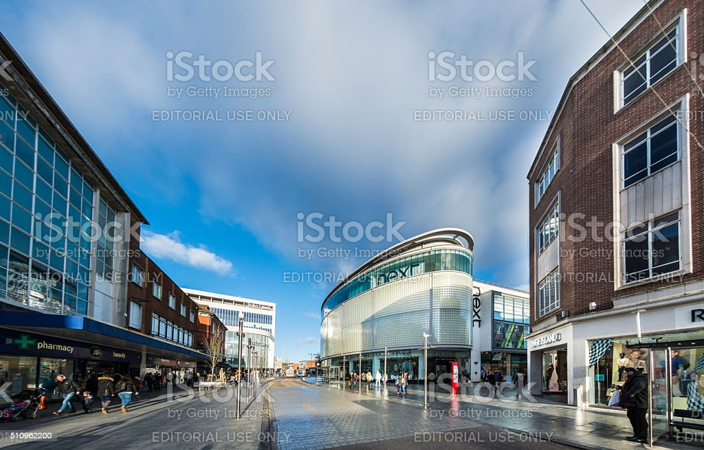 Exeter Sidwell Street Shops stock photo