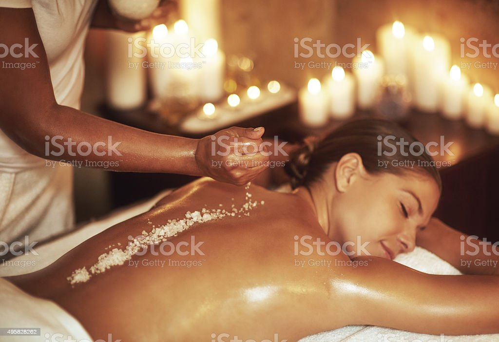 Exfoliation is key... stock photo