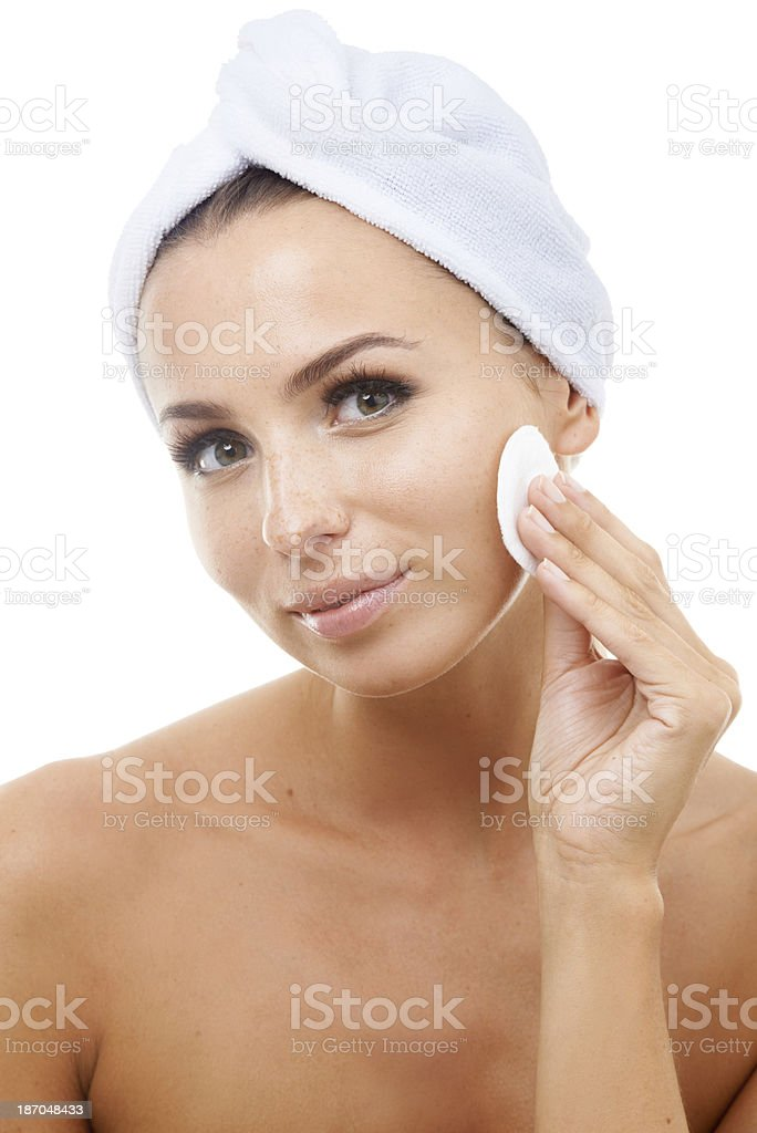 Exfoliation is the key to great skin royalty-free stock photo