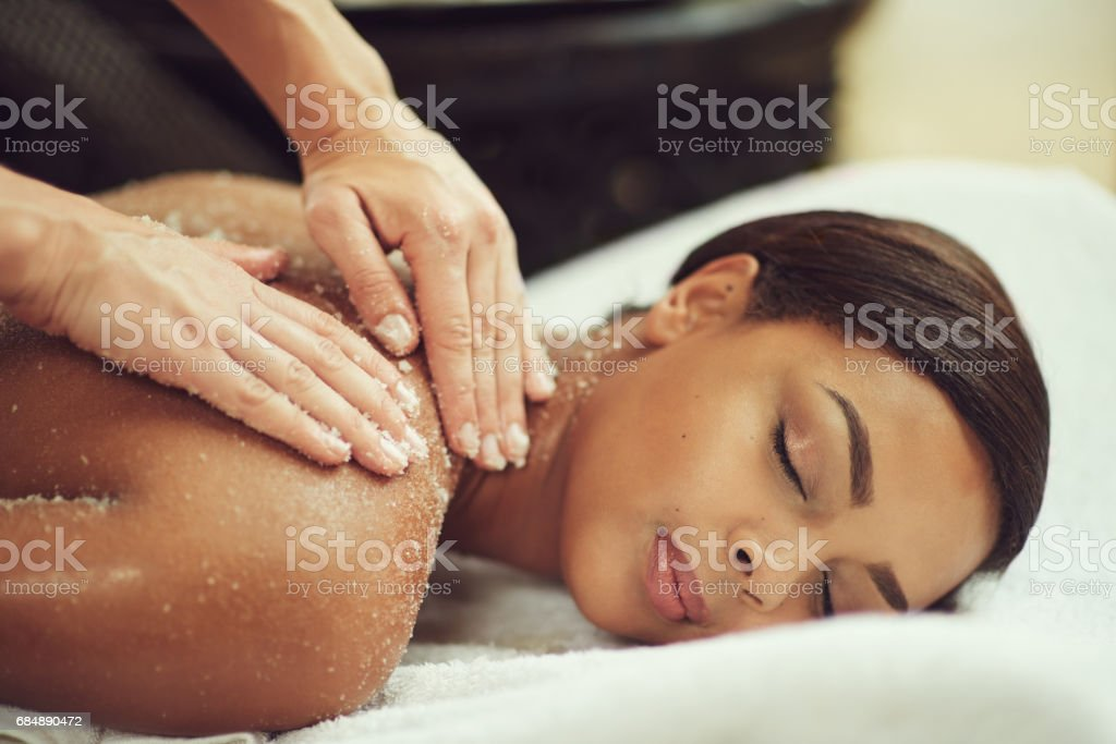 Exfoliation meets relaxation stock photo