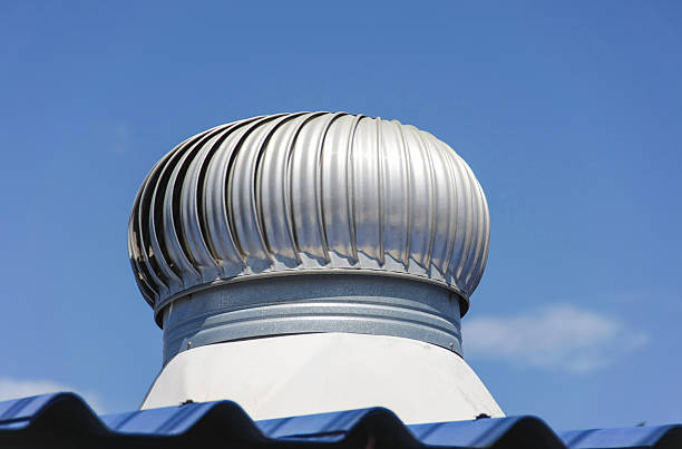 exhaust fan on roof stock photo