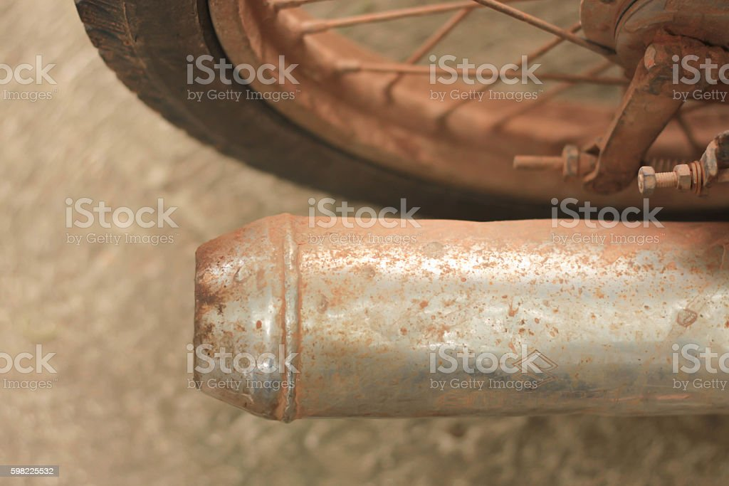 Exhaust motorbikes rust foto royalty-free