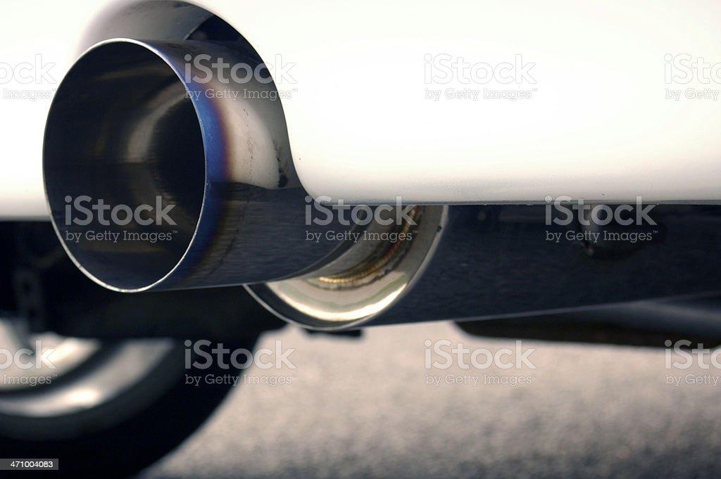 4' Exhaust royalty-free stock photo