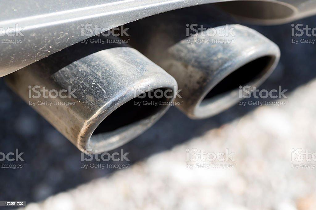 Exhaust pipe. stock photo