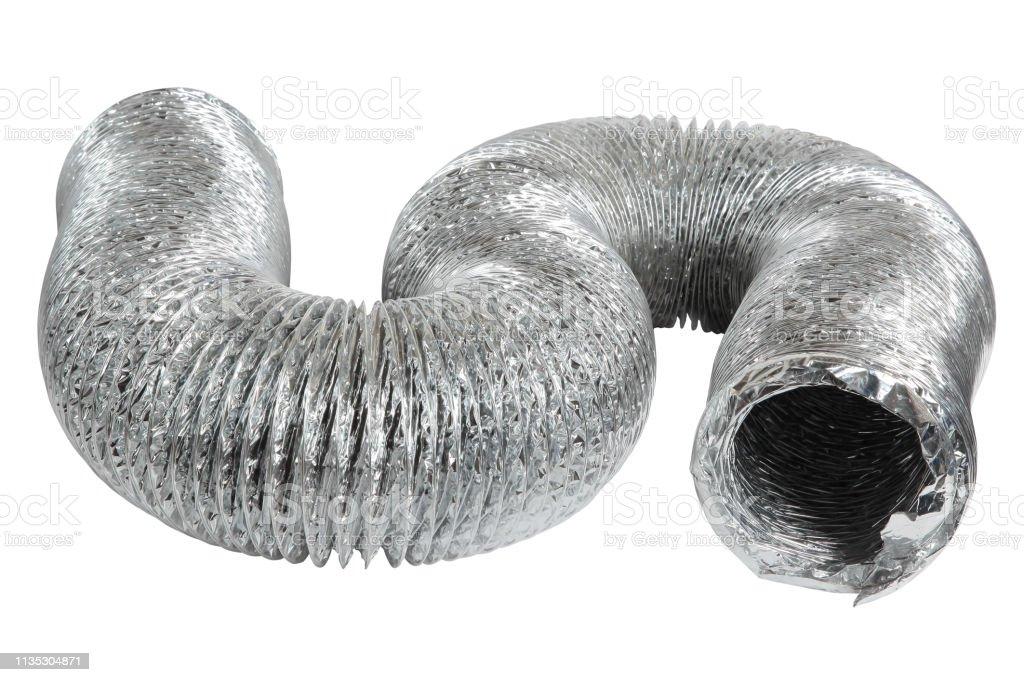 排気の換気の管 - アルミニウムのロイヤリティフリーストックフォト