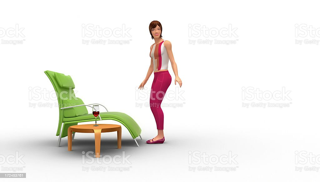Exhausted Beautiful Woman Resting And Napping royalty-free stock photo