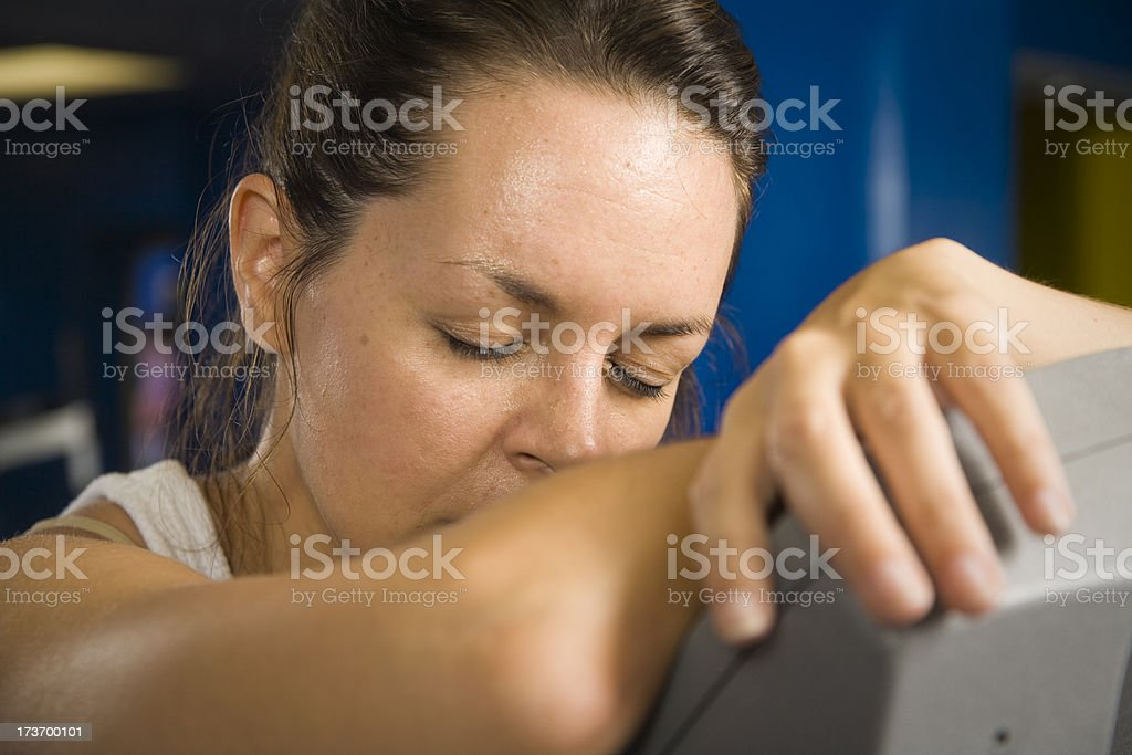 Exhausted Fitness Woman royalty-free stock photo