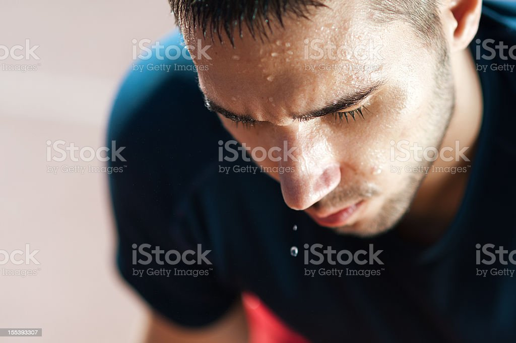 exhausted runner stock photo