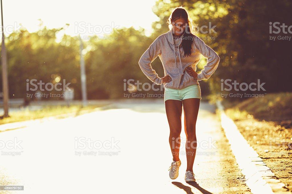 Erschöpft runner - Lizenzfrei 2015 Stock-Foto