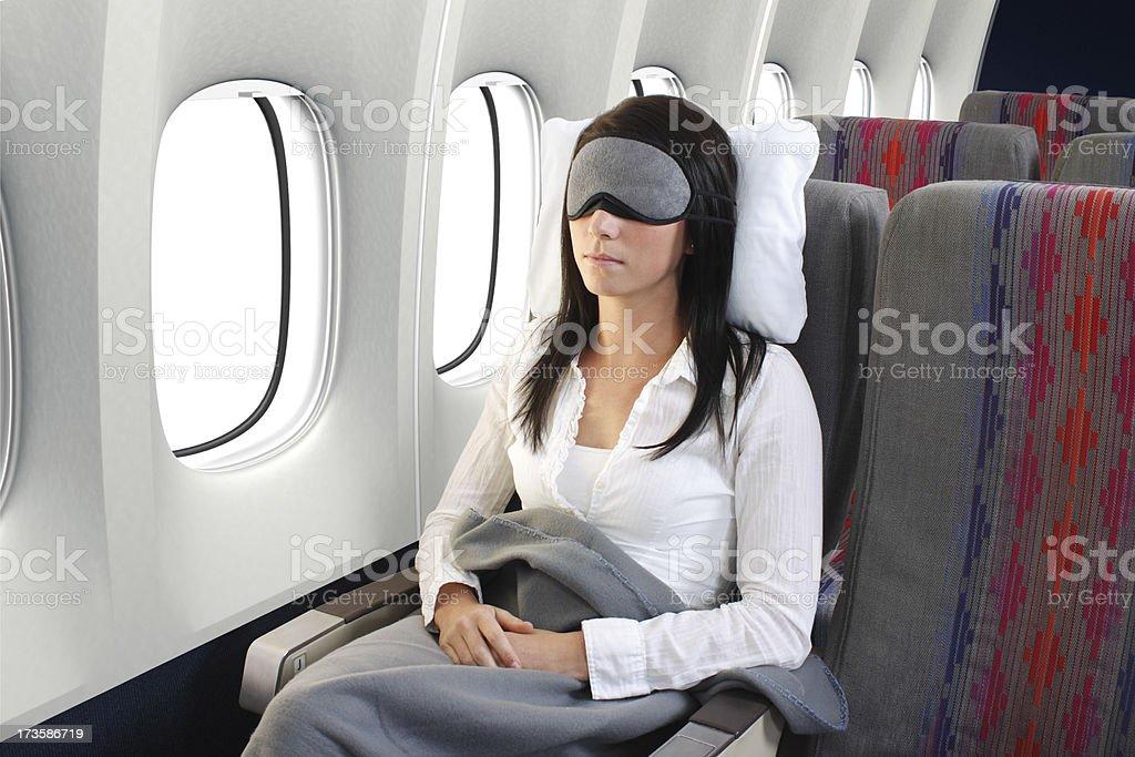 Exhausted Traveler stock photo