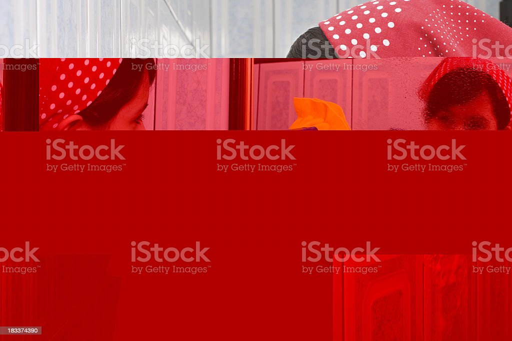 Exhausted young girl royalty-free stock photo