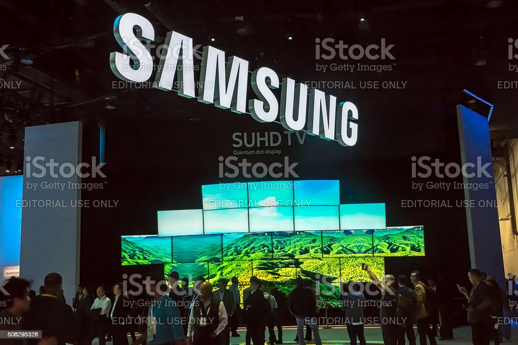 CES 2016 Exhibit stock photo