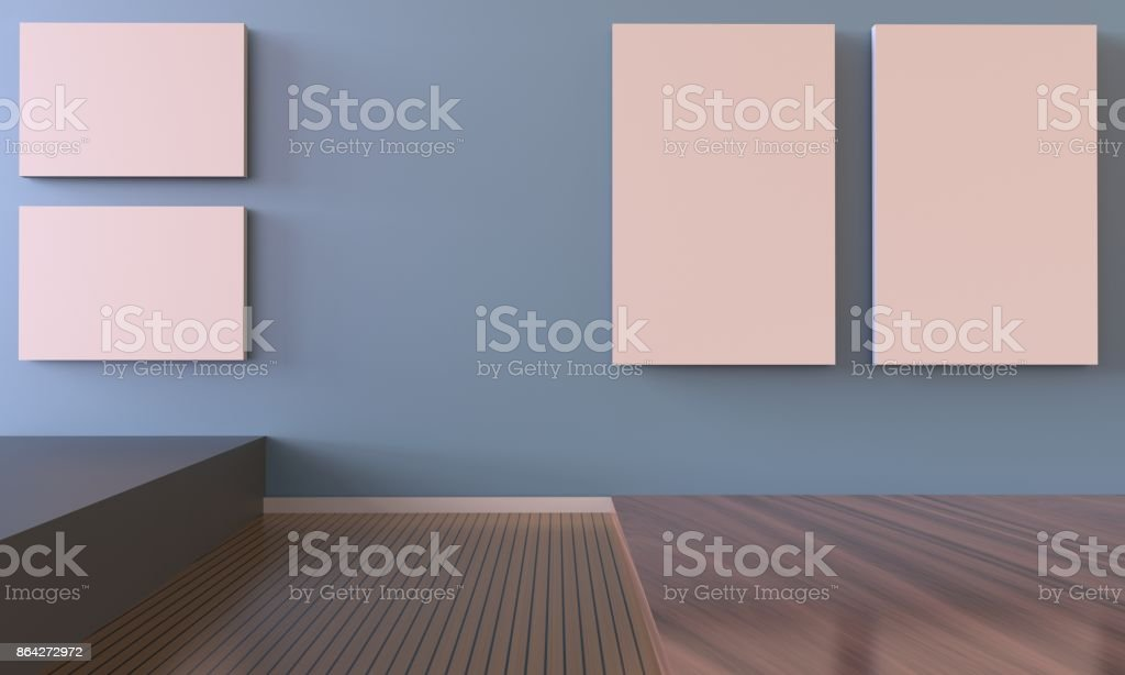Exhibition Art Gallery and picture frame stock photo