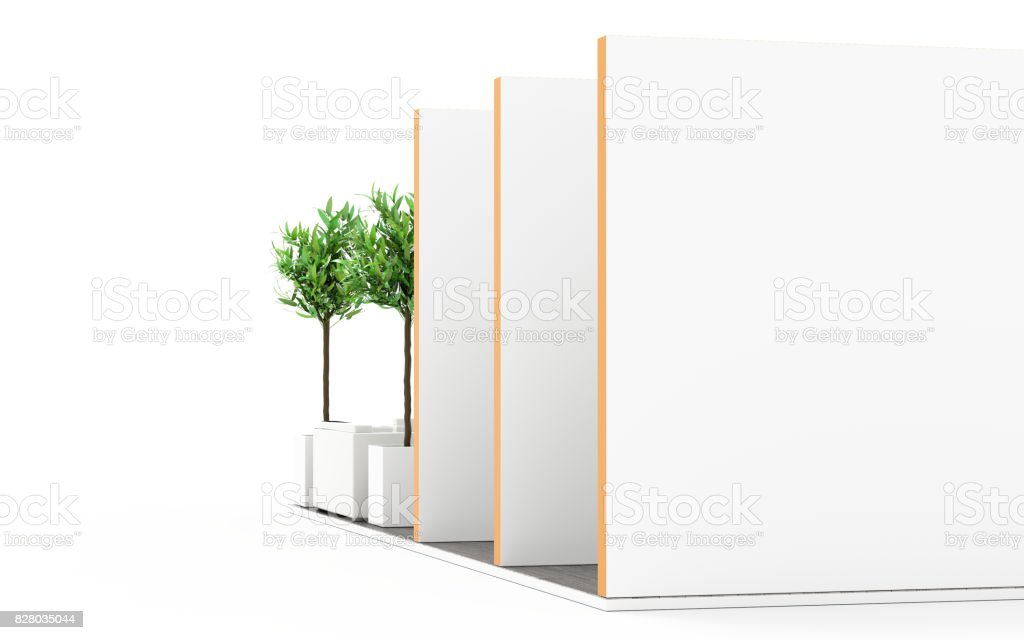 Exhibition Booth Blank : Trade show booth box d white and blank u stock photo newb