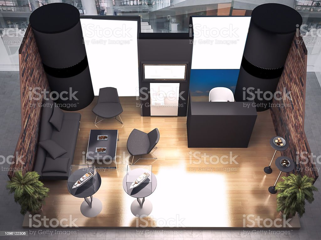 Exhibition Fair Stand Render Designed With 3d Software Stock Photo Download Image Now Istock