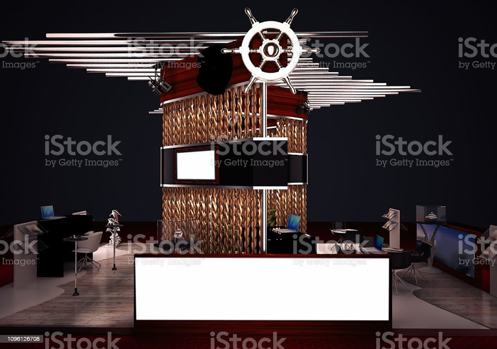 Exhibition Fair Stand Ship Shape Render Designed With 3d Software Stock Photo Download Image Now Istock