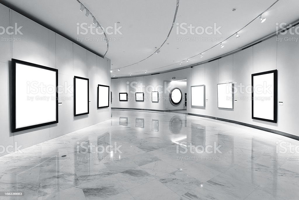 Exhibition frames stock photo