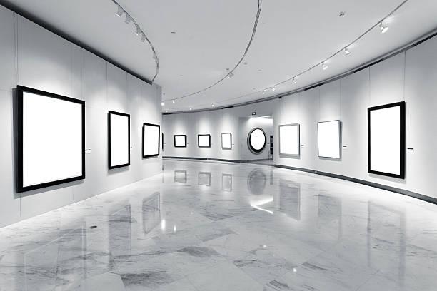 Exhibition frames stock photo
