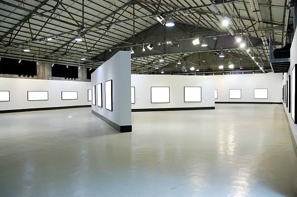 exhibition hall stock photo
