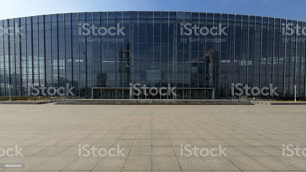 Exhibition Hall with its square stock photo