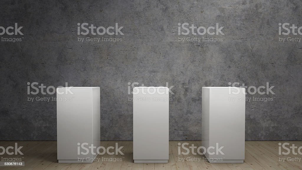 exhibition of a product stock photo