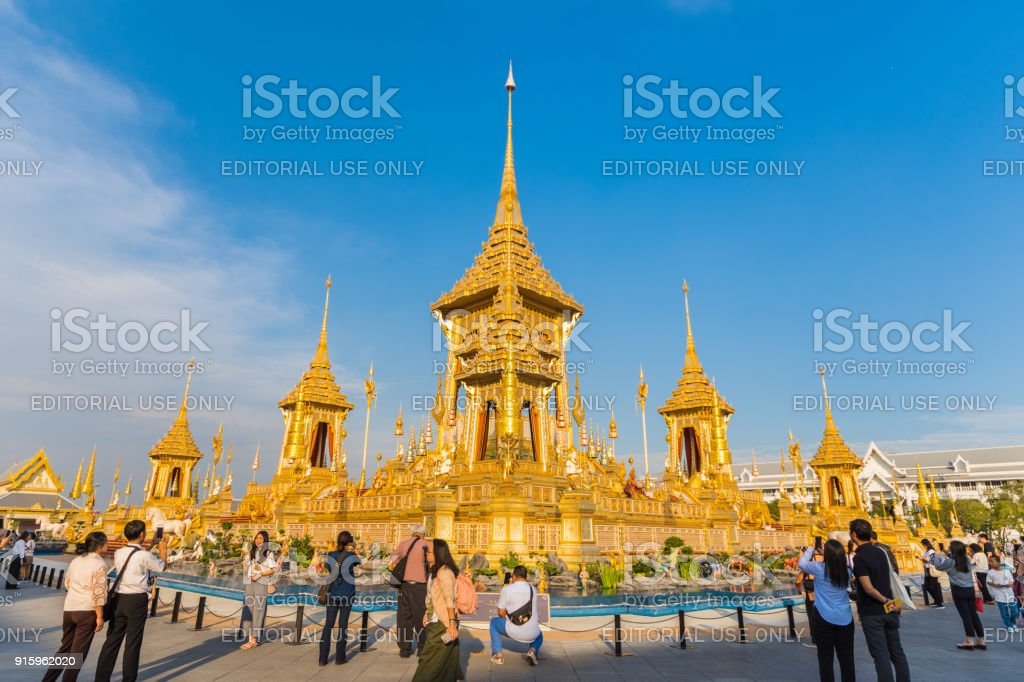 Exhibition of King Rama IX Royal Crematorium stock photo