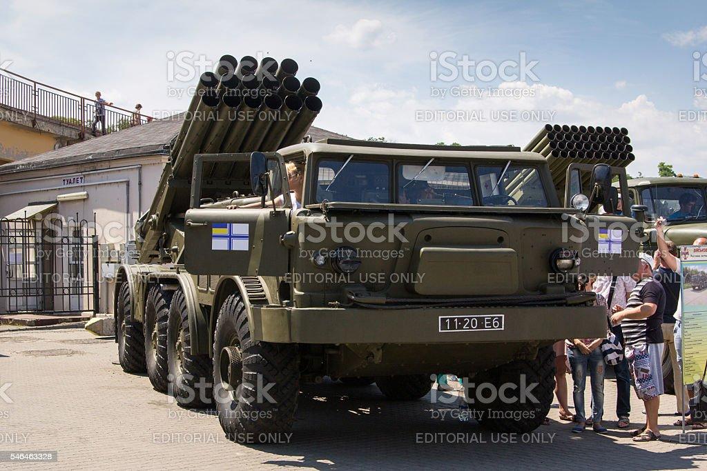Odesa, Ukraine - July 03, 2016: Exhibition of military vehickles stock photo