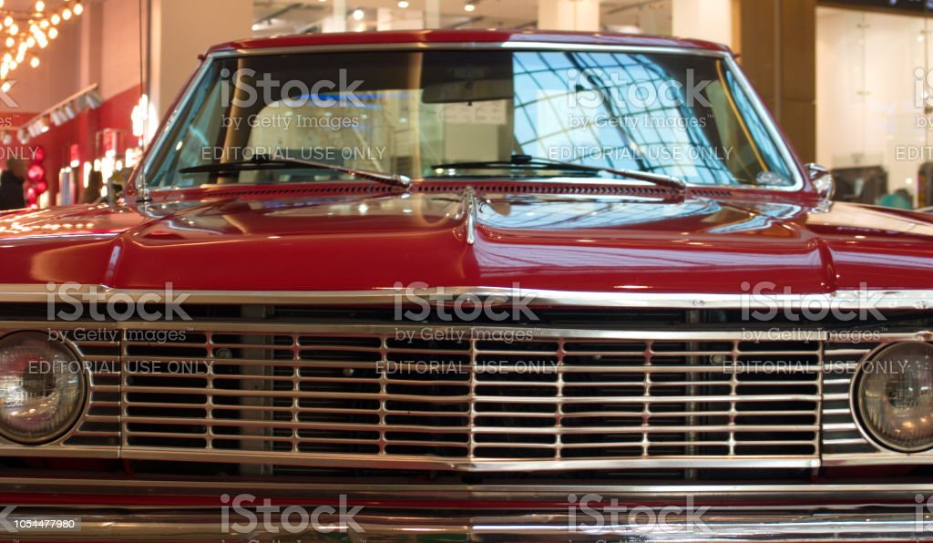 Exhibition Of Old Cars In The Mallchevrolet Suburban Front View