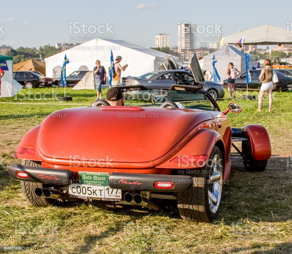 Exhibition of rare and vintage cars. Exclusive car models